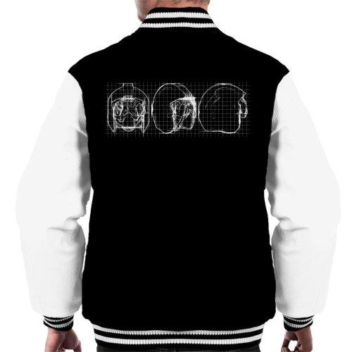 Original Stormtrooper Rebel Pilot Helmet Blueprint Men's Varsity Jacket