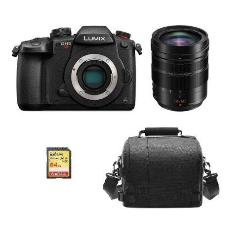 PANASONIC DMC-GH5S Black+12-60mm F2.8-4.0 ASPH Black+64GB SD card+Bag