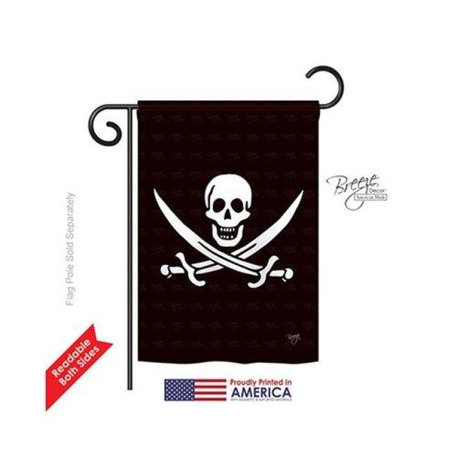 Breeze Decor 57031 Pirate Calico Jack Rackham 2-Sided Impression Garden Flag - 13 x 18.5 in.