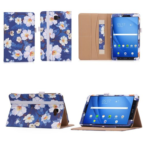 Samsung Galaxy Tab A6 10.1 Case,VOVIPO Premium Leather Cover Stand Protective Folio Case For Samsung Galaxy Tab A6 10.1 T580/T585 With Handstrap...