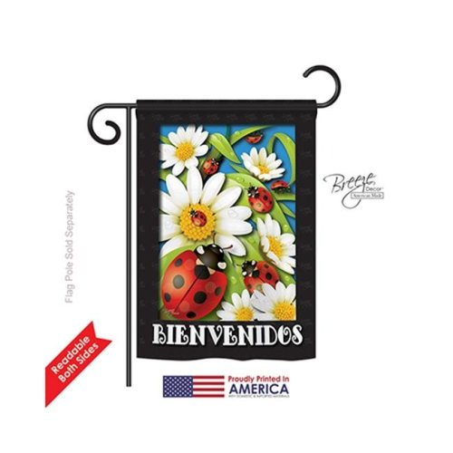 Breeze Decor 54072 Paraiso de Tortolitas 2-Sided Impression Garden Flag - 13 x 18.5 in.