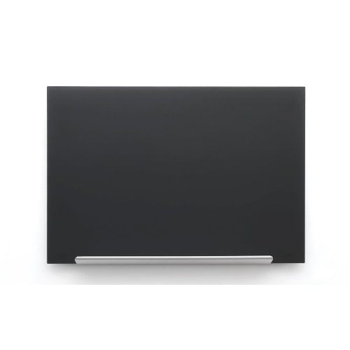Nobo Diamond Glass Board Magnetic Black 677x381mm