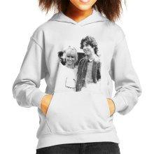 John Travolta Olivia Newton John Grease Release UK 1978 Kid's Hooded Sweatshirt