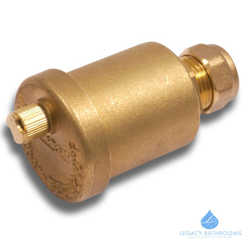 BRASS AUTO BOTTLE AIR VENT 15MM COMPRESSION AIRVENT VALVE