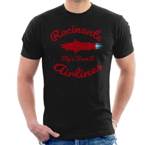 Flip N Burn Rocinante Airlines The Expanse Men's T-Shirt