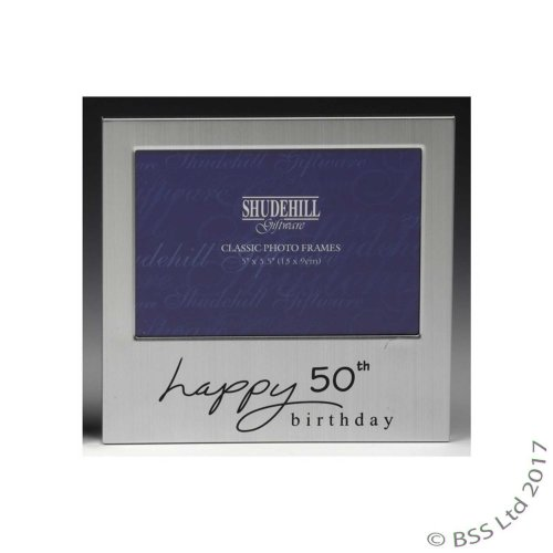 Happy 50th Birthday 5 x 3 photo Frame by Shudehill giftware