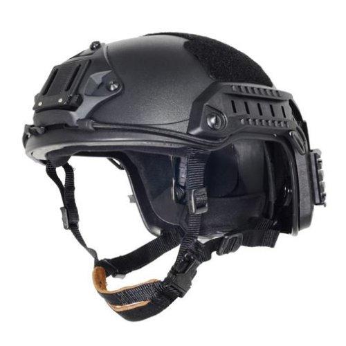 Airsoft Ops Core Black Swat  Maritime Fma Abs Helmet Jump Rail M/L