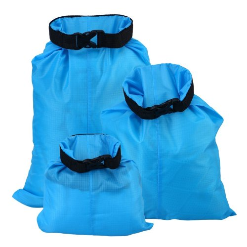 UEETEK 3pcs 1.5L+2.5L+3.5L Waterproof Dry Bag for Camping Boating Kayaking Rafting Fishing(Sky Blue)