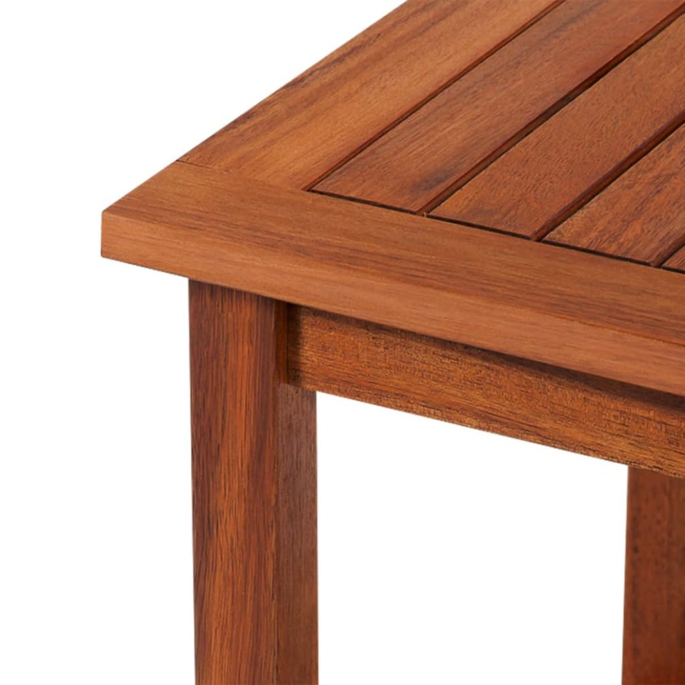 vidaXL Solid Acacia Wood Side Table 45x45x45cm Living Room Furniture Stand