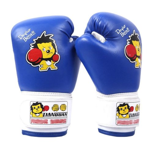 Child Boxing - Kickboxing Glove Full Finger Gloves -MMA-2----Blue
