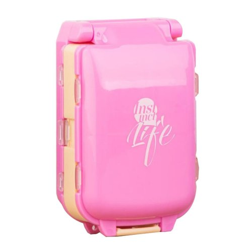 Pink Supplements and Pills Case Box Holder