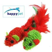 Twinkle Mice Duo Happy pet Festive Fun Cat Toy