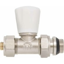 "Manual Inlet Radiator Valve 16mm Pex Compression Fittings X 1/2"" Bsp"