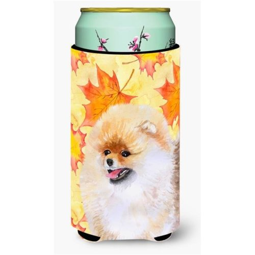 Carolines Treasures BB9943TBC Pomeranian Fall Tall Boy Beverage Insulator Hugger