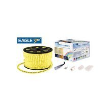 Eagle Static LED Rope Light Kit With Wiring Accessories Kit 45m yellow