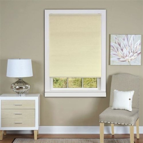 Honeycomb Cellular White Pleated Cordless Shade 30x64