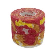 3 Rolls 2 Inches X 5 Yards Non-Woven Self Adherent Bandages For Sports, Red Camo