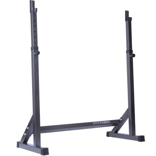 Adjustable Squat Rack Stand Barbell Gym Bench Press Weight Lifting Power Cage