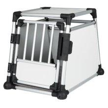 Trixie Transport Crate, 55 62 78 Cm, Aluminium - Cratecm Dog Cage Various -  trixie transport crate aluminium 55 62 78 cm dog cage various sizes new