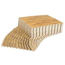 HOMCOM 36 Pcs Interlocking Floor Tiles EVA Foam Puzzle Mat Protection Gym Garage Wood Grain Effect 60 cm