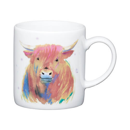 Kitchen Craft Highland Cow Porcelain Espresso Mug