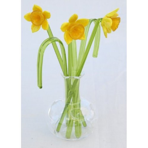 Gorgeous glass daffodil display