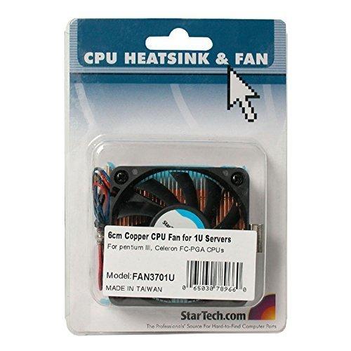 1U 60x10mm Socket 7370 CPU Cooler Fan wCopper Heatsink TX3
