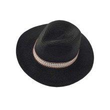 2e63618c2c448 Flower Wide Brim Beach Hat Straw Hats Womens Summer Foldable Sun Hat ...