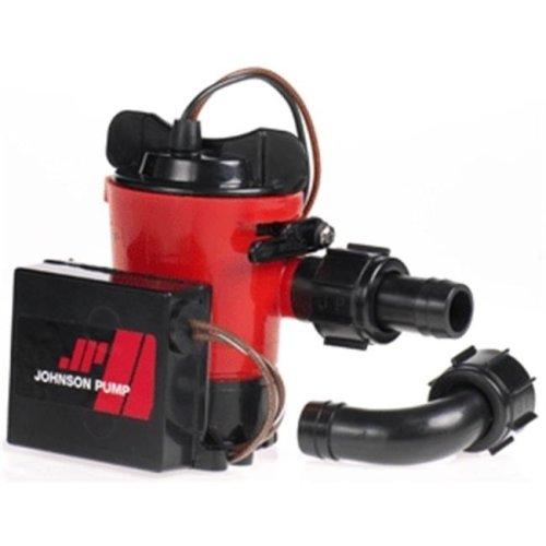 Johnson Pump 07503-00 Johnson Pump 500 GPH Auto Bilge Pump 3-4 .in Hose 12V Dura Port