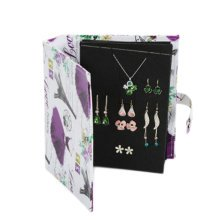 Unique Jewelry Necklace Rings Display Earrings Book Organizer-H07