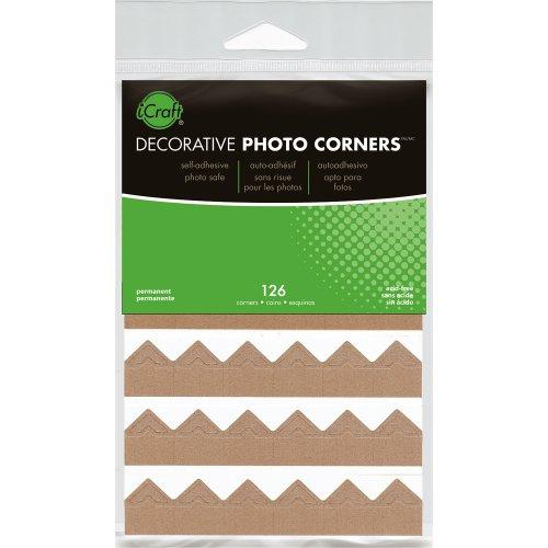 Decorative Photo Corners 126/Pkg-Kraft