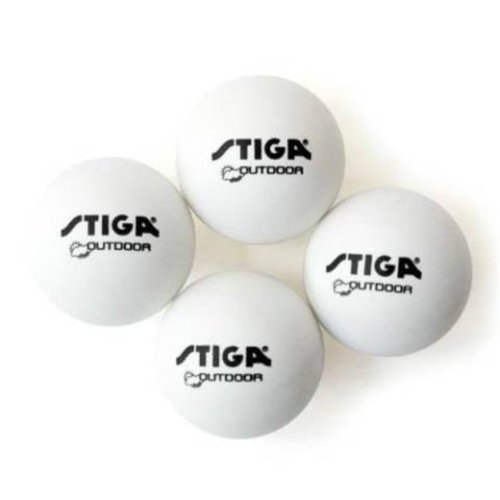 Stiga T1449 Outdoor Grade Table Tennis Ball - 4 Pack