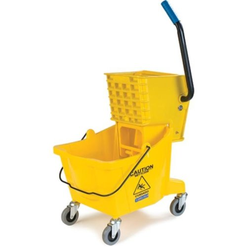 CFS 3690804 16.5 x 16.5 in 26 qt Side Press Bucket with Side Press Wringer Combo - Yellow