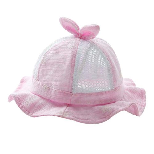 Lovely Cap Foldable Beach Hat Nice Gift Baby Hat Cotton Sunhat Summer Hat Pink