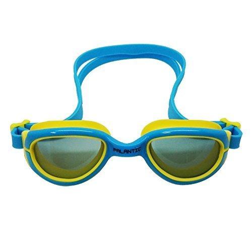 Palantic Jr Silicone Swim Goggles w UV Tinted Lenses Blue Yellow