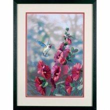D11127 - Dimensions Crewel Embroidery - Hollyhocks in Bloom