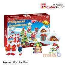 Christmas Holiday Ornaments 3D Jigsaw Puzzle DIY Toy Tree Decoration