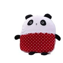 Pillow And Quilt Cute Cartoon Creative Air Conditioning Car Cushion(Panda,Red)