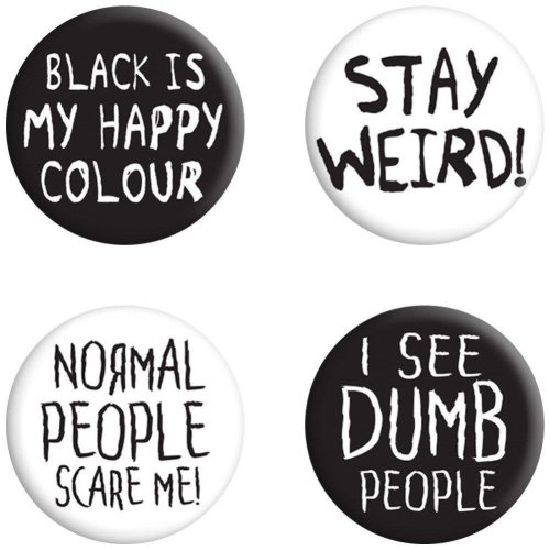 Grindstore Stay Weird Badge Pack
