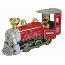 Simulation Locomotive Toy Model Trains Steam Train, RED (15*5*17CM)