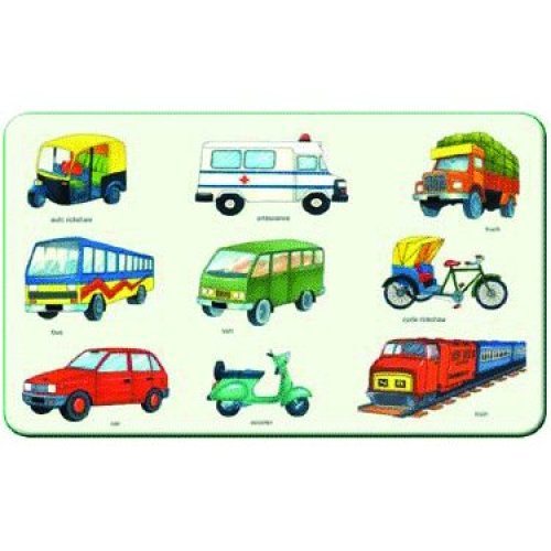 Creative Early Years Play And Learn Land Transport Puzzle - Cre0610 -  cre0610 creative early years play learn land transport