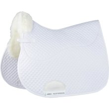 Weatherbeeta Merino High Wither All Purpose Saddle Pad: White: 17.5 inch