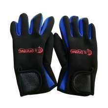 Blue Professional Diving Gloves Dive Necessary Protective Equipment