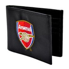 Arsenal Embroidered Black Wallet - Football Fc Club Crest Official 7000 -  wallet arsenal embroidered football fc club crest official 7000