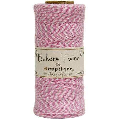 Cotton Baker's Twine Spool 2-Ply 410'-Light Pink
