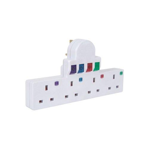 Plug-in 4 Way Mains Adaptor