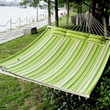 Outsunny Hammock 2 Person Camping Swing (green & Yellow & White)
