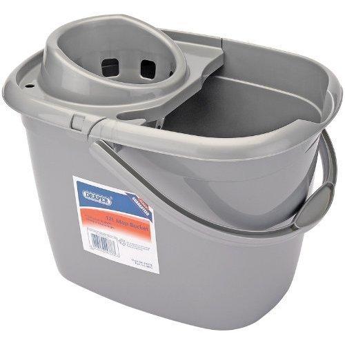 Mop Bucket - Plastic Draper 24778 12l Litre -  plastic bucket draper mop 24778 12l litre