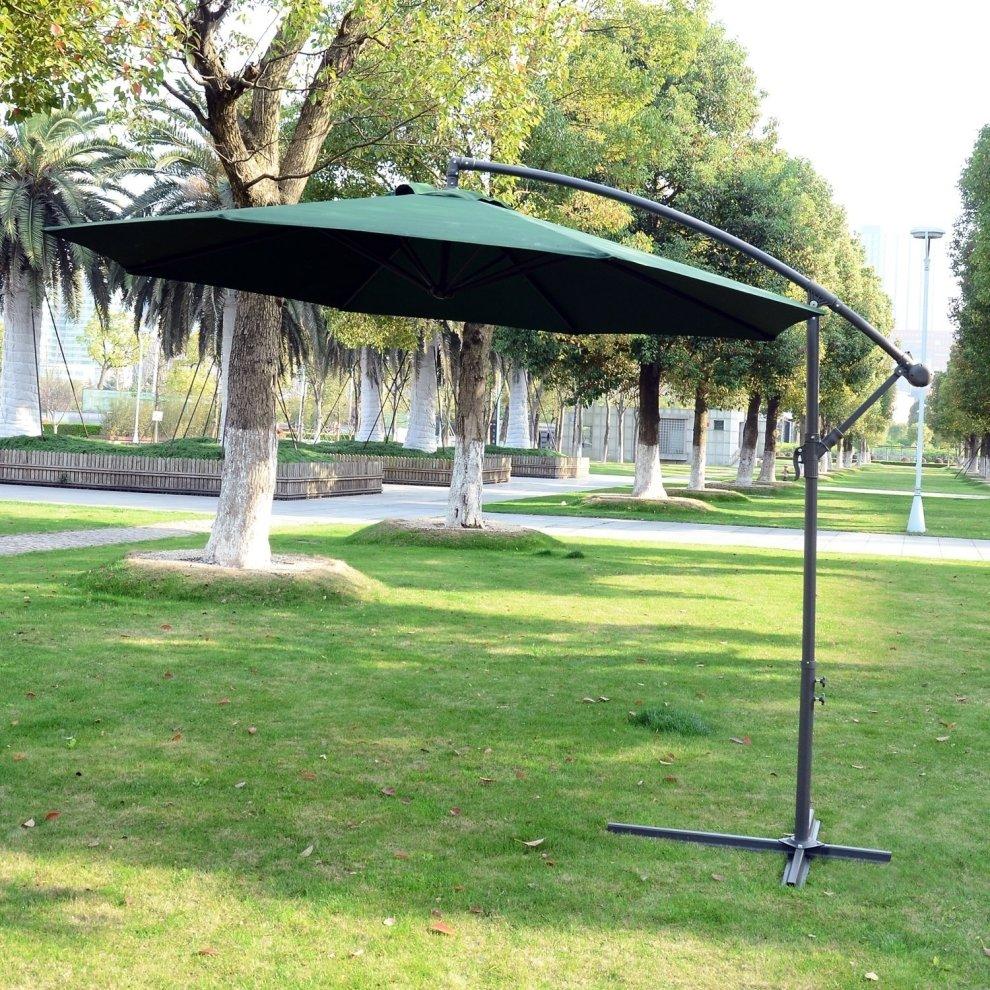 Outsunny 3m Garden Parasol Banana Umbrella Cantilever On Onbuy