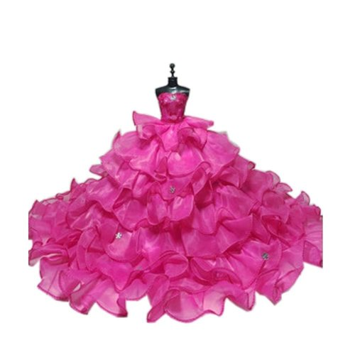 High-end Handmade Wedding Costume Luxurious Party Gown Dresses Princess Clothes for Dolls, T